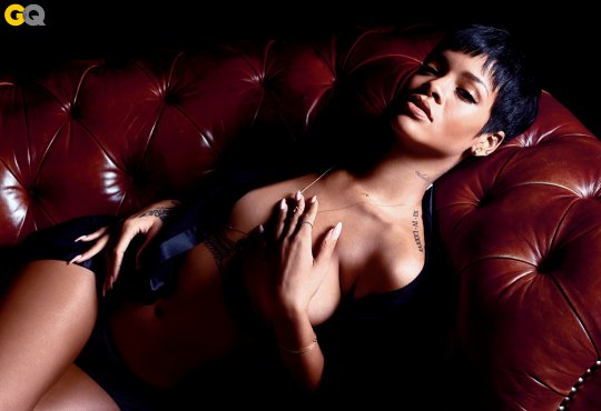 Can not Rihanna nude gq think